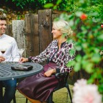 Bushmills Inn drinks in garden