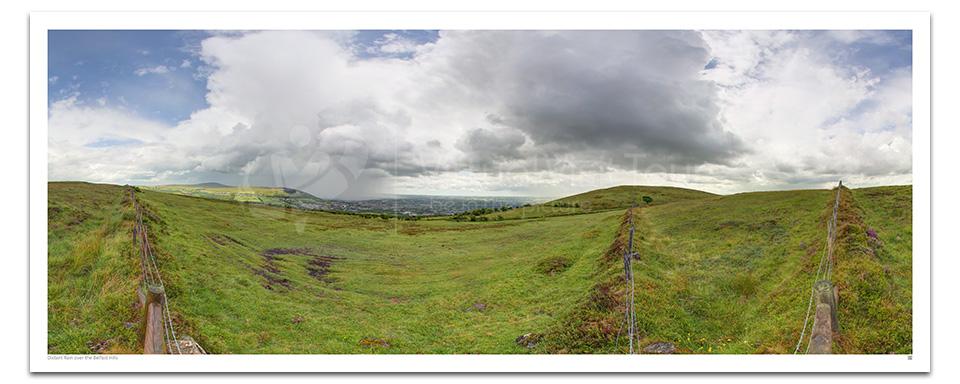 Distant Rain over the Belfast Hills