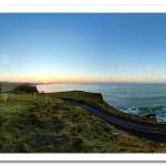 Sunset on the Coast Road. Dunluce Castle