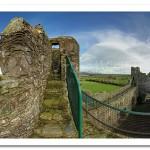 Greencastle Royal Castle. Top of Keep