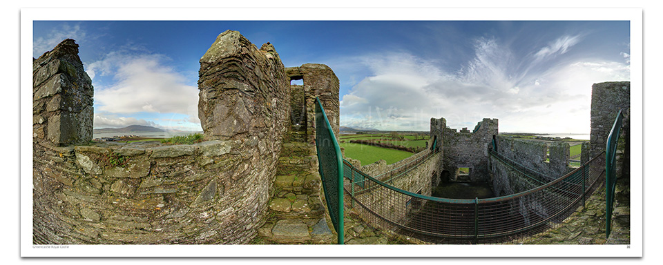 Greencastle Royal Castle. Top of Keep