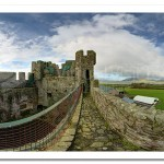 Greencastle Royal Castle View to Mournes