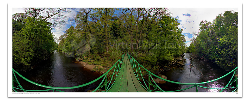 Inverted Bowstring Footbridge Roe Valley