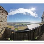 Scrabo Tower Rooftop looking towards Newtownards and Strangford