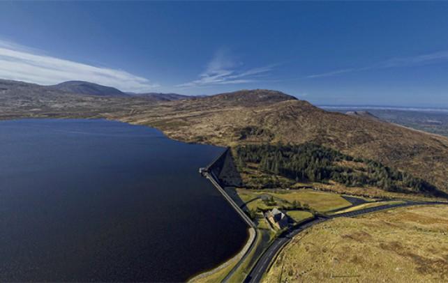 Spelga Dam 360° Aerial Photograph