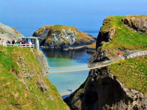 Carrick-a-Rede Rope Bridge, Co. Antrim, Northern Ireland.