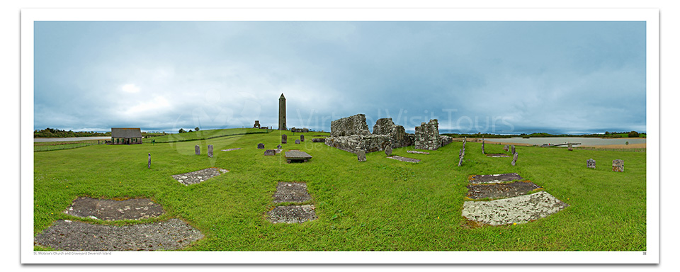 St. Molaise's Church and Graveyard. Devenish Island