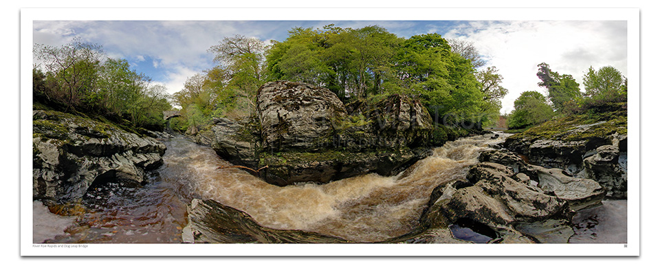 Dog Leap Bridge and River Roe-Rapids. Roe Valley Country Park