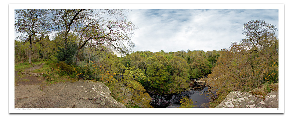 View from O'Cahans Rock. Roe Valley Country Park