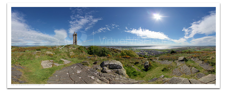 Scrabo Tower looking towards Newtownards and Strangford Lough