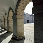 National Museum of Ireland-Decorative Arts & History Exterior through Columns